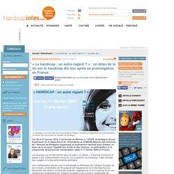« Le handicap: un autre regard? »: un bilan de la loi sur le handicap dix ans après sa promulgation en France