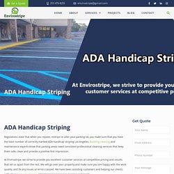 ADA Handicap Striping in Los Angeles – EnviroStripe