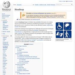 Handicap Wilkipedia- Définition
