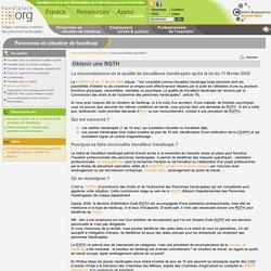 Handiplace - Obtenir une RQTH