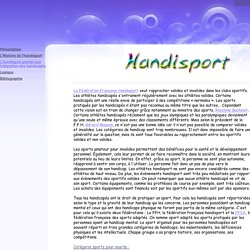 L'handisport permet une intégration des handicapés - Handisport