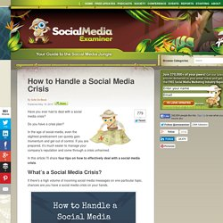 How to Handle a Social Media Crisis Social Media Examiner