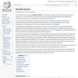 Handle System - Wikipedia