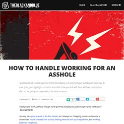 How to Handle Working for an Asshole