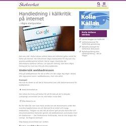 Handledning i källkritik på internet