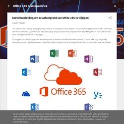 Korte handleiding om de achtergrond van Office 365 te wijzigen