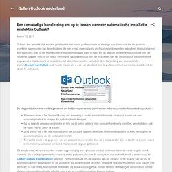 Een eenvoudige handleiding om op te lossen wanneer automatische installatie mislukt in Outlook?