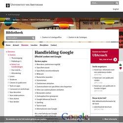 Handleiding Google - UBA - Universiteit van Amsterdam