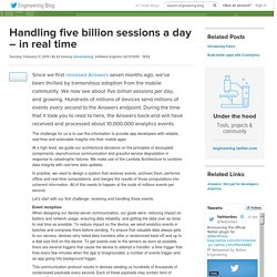 Handling five billion sessions a day – in real time