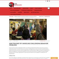 New Teacher Tip: Handling Challenging Behavior Problems