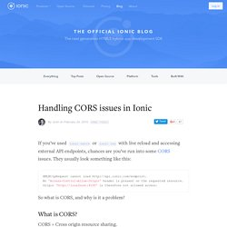 Handling CORS issues in Ionic