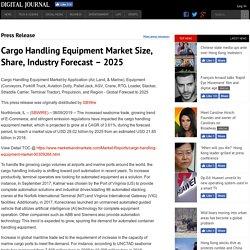 Cargo Handling Equipment Market Size, Share, Industry Forecast – 2025