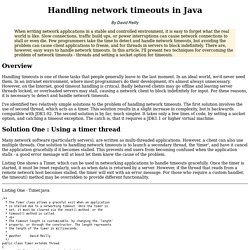 Handling network timeouts in Java