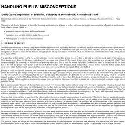 HANDLING PUPILS' MISCONCEPTIONS