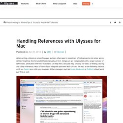 Handling References with Ulysses for Mac