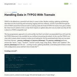 Handling data in TYPO3 with tcemain - blog.tolleiv.de