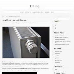 Handling Urgent Repairs
