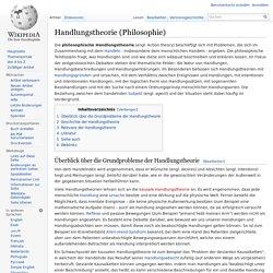 Handlungstheorie (Philosophie)