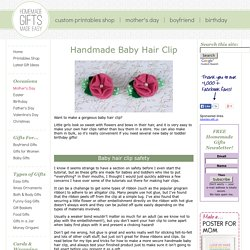 Handmade Baby Hair Clip Tutorial