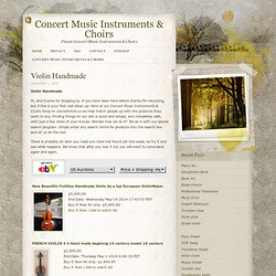 Concert Music Instruments & Choirs