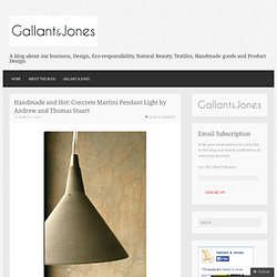 Handmade and Hot: Concrete Martini Pendant Light by Andrew and Thomas Stuart