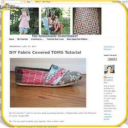 DIY Fabric Covered TOMS Tutorial
