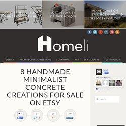 8 Handmade Minimalist Concrete Creations for Sale on Etsy - Homeli