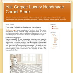 Yak Carpet: Luxury Handmade Carpet Store: Picking the Perfect Area Rug for your Living Space