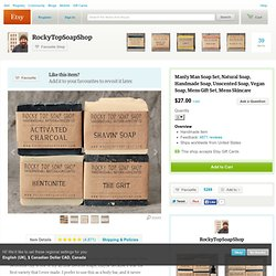 Manly Man Soap Set Natural Soap Handmade by RockyTopSoapShop