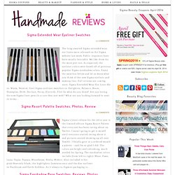 Handmade Reviews: swatches: beauty, sigma coupons, giveaways