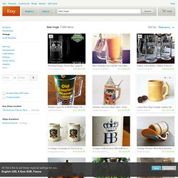 beer mugs on Etsy, a global handmade and vintage marketplace.