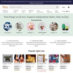 Your place to buy and sell all things handmade, vintage, and supplies