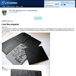 handmadebooks: I am the emperor