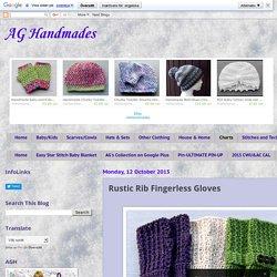 AG Handmades: Rustic Rib Fingerless Gloves