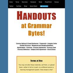 Handouts at Grammar Bytes!