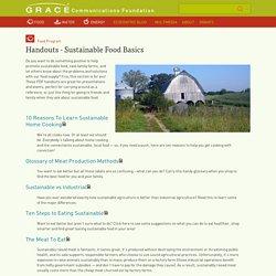 Sustainable Food Basics