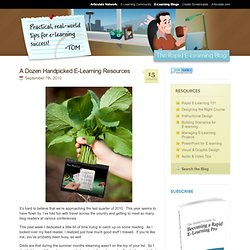 A Dozen Handpicked E-Learning Resources