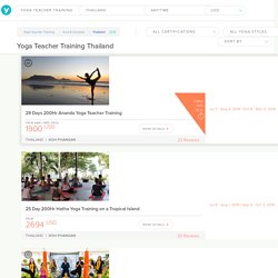 Handpicked Yoga Teacher Training in Thailand 2019/2020 - Yovada.com