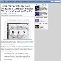 Turn Your Child's Precious Prints Into Lasting Memories With Handpressions For iPad