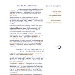 : an artist's color wheel