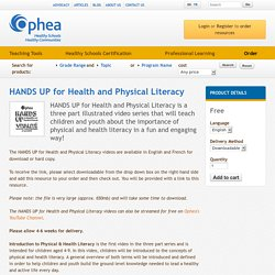 HANDS UP for Health and Physical Literacy