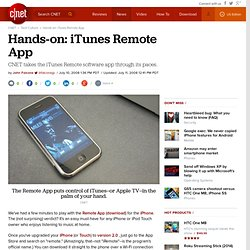 Hands-on: iTunes Remote App