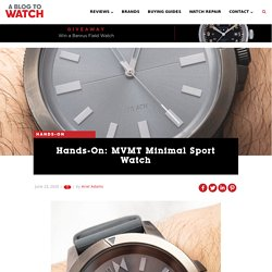 Hands-On: MVMT Minimal Sport Watch
