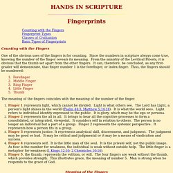 Hands in Scripture