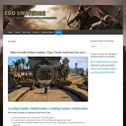 Get Your Hands On The Best Elder Scrolls Online Guide