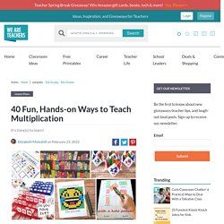 23 Fun Hands-on Ways to Teach Multiplication