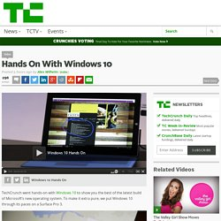 Hands On With Windows 10