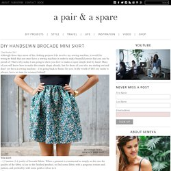 DIY HANDSEWN BROCADE MINI SKIRT