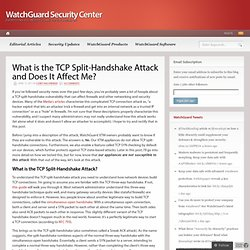 What is the TCP Split-Handshake Attack and Does It Affect Me?