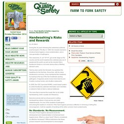 FOOD QUALITY & SAFETY - OCT 2013 - Handwashing's Risks and Rewards